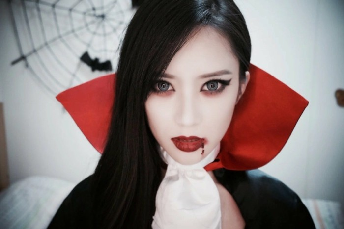 Maquillage halloween facile vampire fille - Maquillage vampire petite fille ...