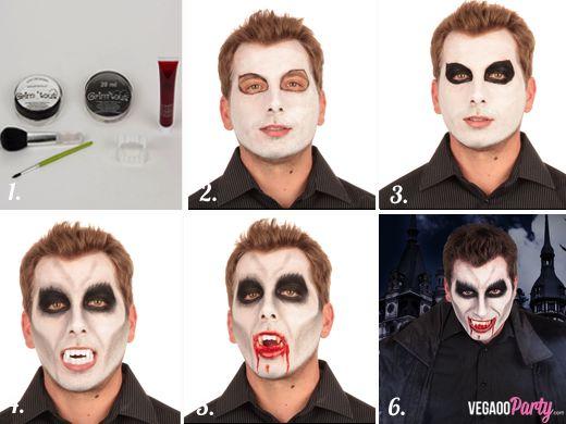 maquillage vampire garcon