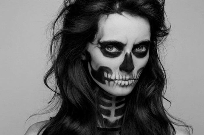 maquillage squelette leger