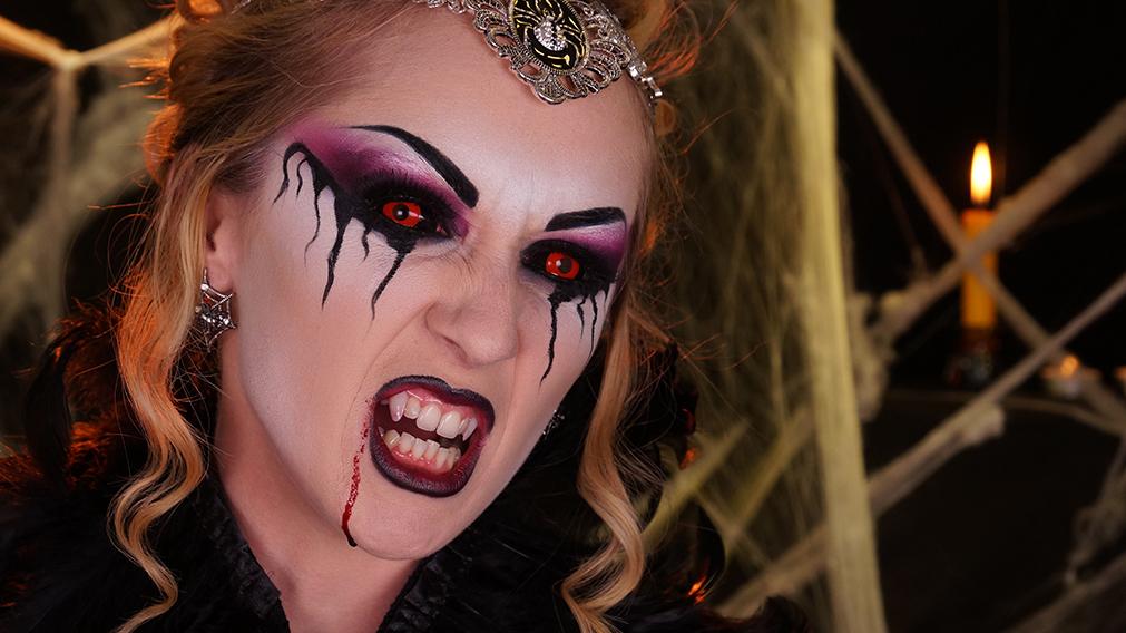 Maquillage vampire fillette - Maquillage diablesse fillette ...
