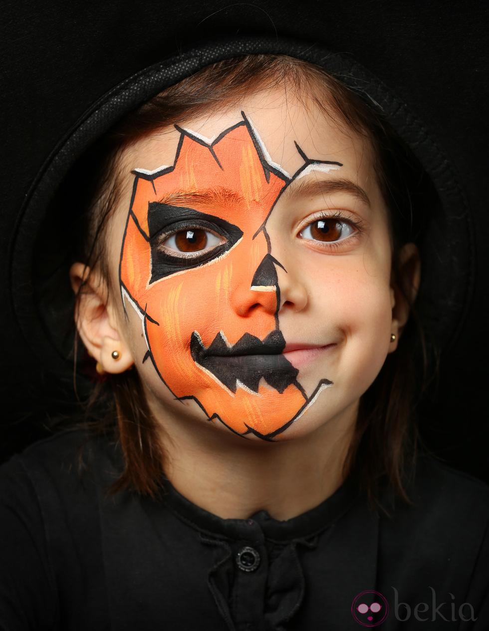 maquillage sorciere orange