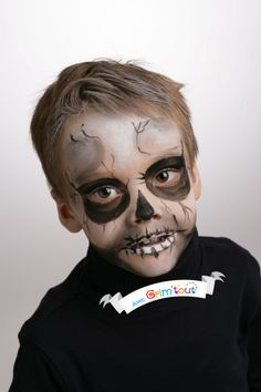 Maquillage halloween zombie enfant