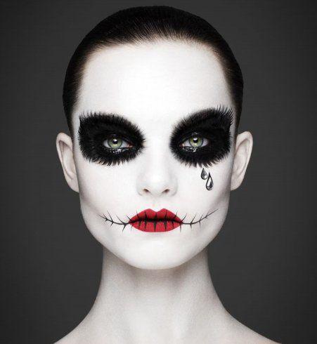 maquillage halloween exemple