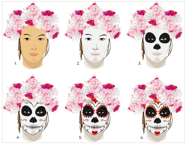 Fabuleux Maquillage halloween squelette fille | Tartine au chocolat FI68