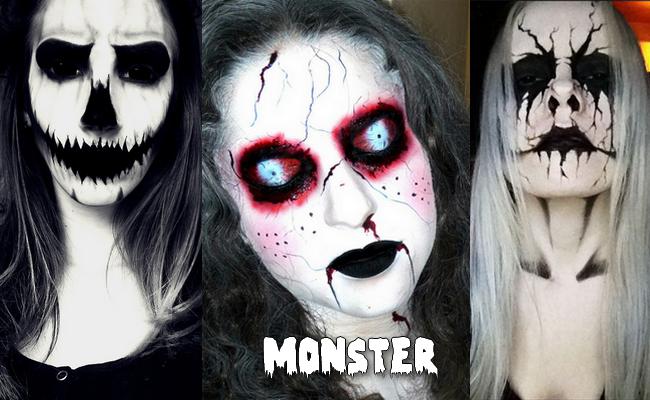 maquillage halloween peur