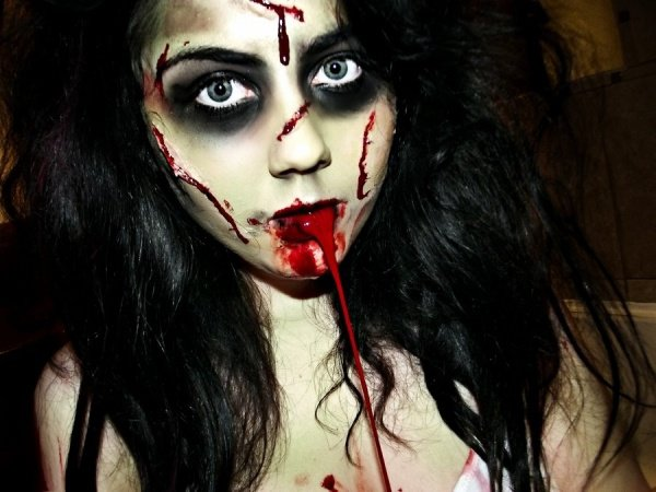 Maquillage halloween exorciste tartine au chocolat - Maquillage horreur facile ...