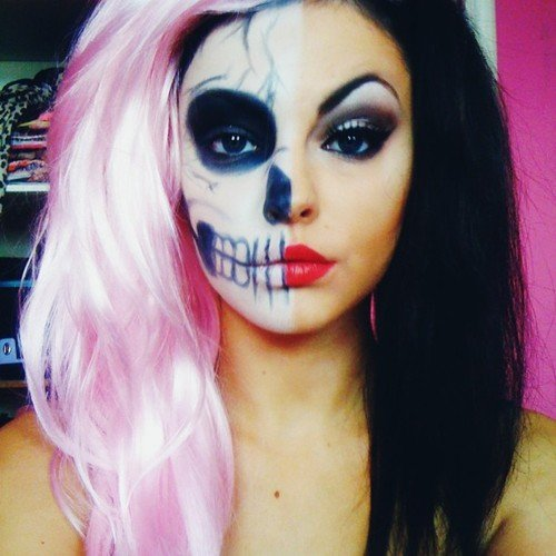 Maquillage halloween simple fille