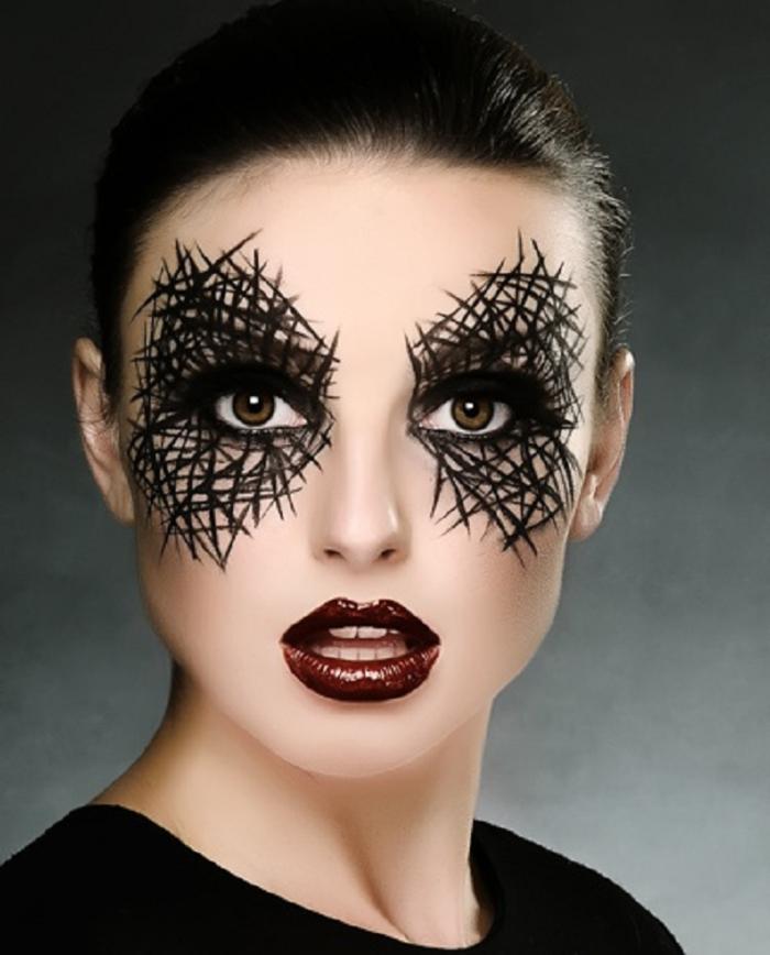maquillage halloween joue
