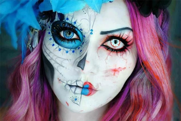 maquillage halloween pour fille