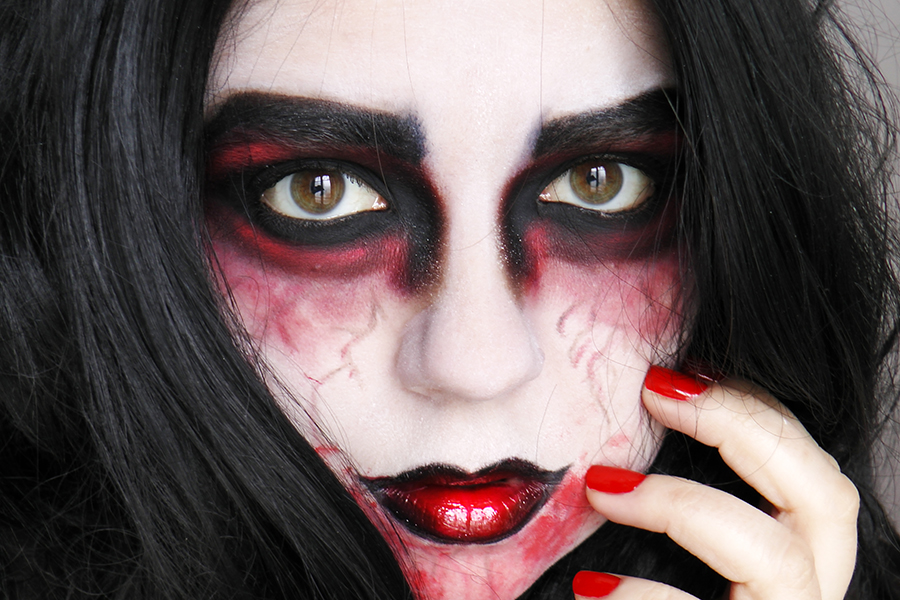 Maquillage zombie facile latest this with maquillage zombie facile le makeup zombie with - Maquillage zombie femme facile ...