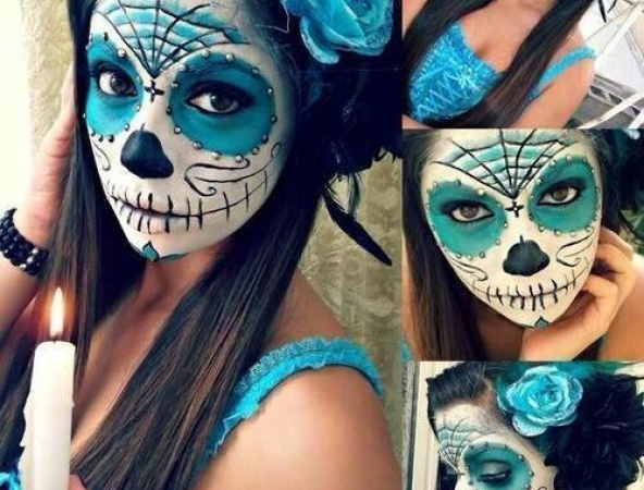 Maquillage squelette femme mexicain - Maquillage mexicain facile ...