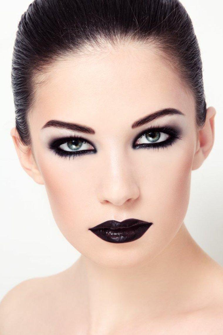 maquillage femme noire halloween. Black Bedroom Furniture Sets. Home Design Ideas